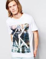 Calvin Klein Jeans T-shirt With Optical Ck Print - White