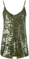 P.A.R.O.S.H. sequin camisole top - women - Polyamide/Spandex/Elastane - S