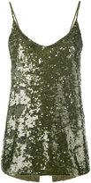 P.A.R.O.S.H. sequin camisole top - women - Polyamide/Spandex/Elastane - XS