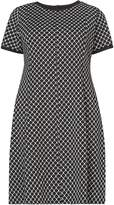 Dorothy Perkins DP Curve Black and White Jacquard dress