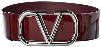 Valentino Vlogo Patent Belt