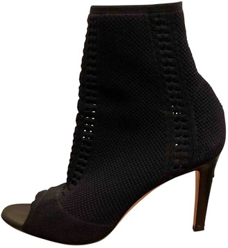 Gianvito Rossi Black Cloth Ankle boots