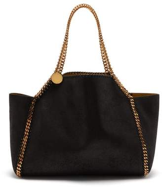 Stella McCartney Falabella Small Reversible Faux-leather Tote Bag - Womens - Black