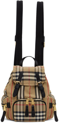 Burberry Beige Small Vintage Check Rucksack