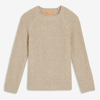 Joe Fresh Toddler Boys' Raglan Sleeve Sweater, Light Brown Mix (Size 5)