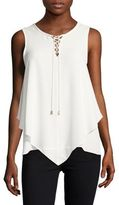 Vince Camuto Lace-Up Asymmetric Tank
