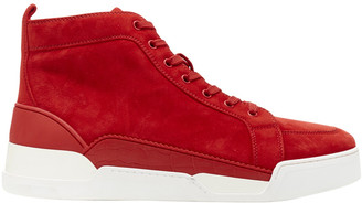 Christian Louboutin Red Suede Trainers