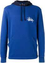 Stussy logo print hoodie - men - Cotton - M