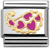 Nomination Lace & Cashmere Fuchsia Hearts Flower Charm 030281/35