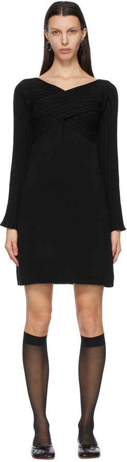 Thumbnail for your product : MM6 MAISON MARGIELA Black Twist Sweater Dress