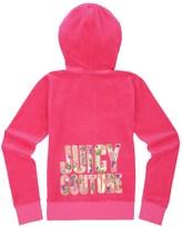 Juicy Couture Girls Logo Velour Sequin Couture Original Jacket