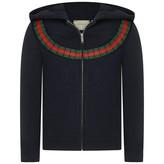 Gucci GUCCIGirls Navy Zip Up Top