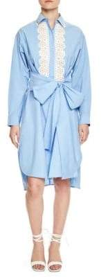Sandro Cox Button-Front Dress