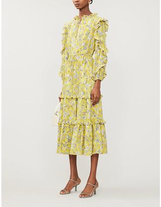 Alexis Auja floral-print crepe midi dress