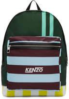 Kenzo Green Multi Stripe Backpack