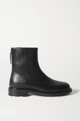 LEGRES Leather Ankle Boots - Black