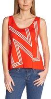 Dorotennis Women's DEBARDEUR court grand NN Logo Round Collar Sleeveless T-Shirt - - 8 (Brand size: S)