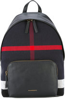 Burberry Abbeydale backpack - men - Cotton/Leather - One Size