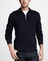 Burberry Half-Zip Cotton Sweater