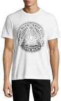True Religion Sunburst Logo Graphic T-Shirt, White