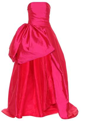 Monique Lhuillier High-low taffeta gown