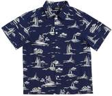 Diesel Boat Printed Cotton Drill Shirt