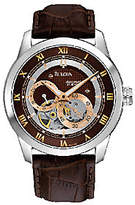Bulova Men's Automatic Brown Leather Strap Watc