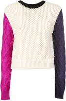 Fausto Puglisi Colorblock Thick Sweater