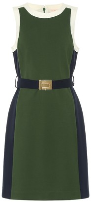 Tory Burch Belted jersey minidress