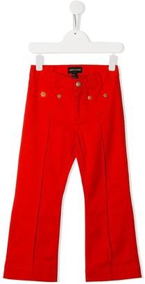 Mini Rodini Clover flared denim jeans