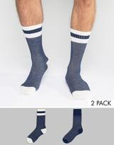 Levis Socks In 2 Pack Indigo