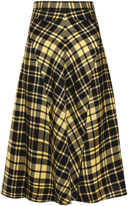 Proenza Schouler Checked Crinkled-twill Skirt