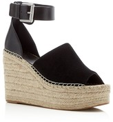 Marc Fisher Adalyn Ankle Buckle Espadrille Platform Wedge Sandals