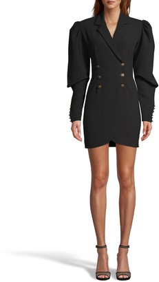Nicole Miller Techy Crepe Double Breasted Blazer Dress