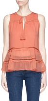 Alice + Olivia 'Massie' tiered sleeveless crépon top