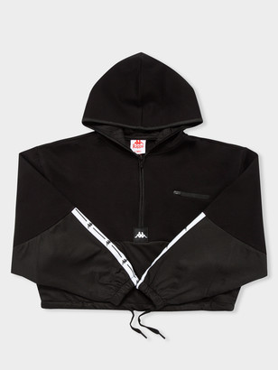 Kappa Authentic JPN Camaline Hooded Pullover in Black