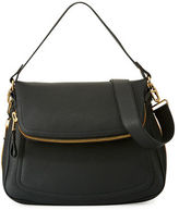 Tom Ford Jennifer Large Grained Leather Saddle Bag