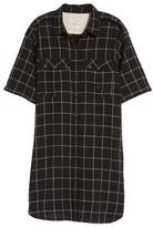 Current/Elliott Women's The Workwear Windowpane Shirtdress