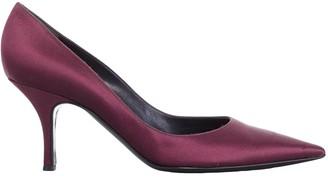 Saint Laurent Purple Cloth Heels