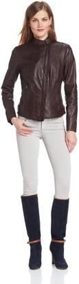 Andrew Marc Women's Raven Leather Jacket