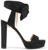 Jimmy Choo Kaytrin Suede Platform Sandals - Black