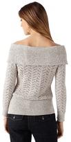 White House Black Market Off the Shoulder Shimmer Sweater