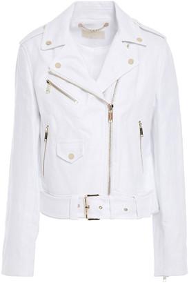 MICHAEL Michael Kors Linen-canvas Biker Jacket