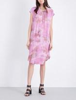 Raquel Allegra Tie dye-print silk and jersey dress