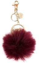 See by Chloe fluffy keyring