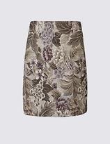 M&S Collection Jacquard Floral Print A-Line Mini Skirt