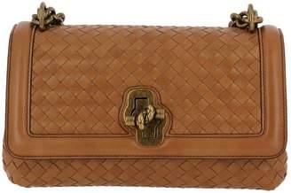 Bottega Veneta Crossbody Bags Crossbody Bag Olimpia Knot With Chain Shoulder Strap And Woven Pattern