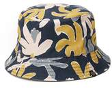 Reversible Leaf Print Bucket Hat | Pretty Green