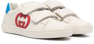 Gucci Leather Sneakers With Logo
