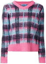 GUILD PRIME plaid contrast trim jumper